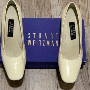 Stuart Weizmann Bone Mirror Calf Heels 9C